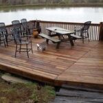 Before & After Deck Staining in Evansville, IN