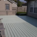 Below: Before & After Exterior Deck, Shed and Swing re-Painted: