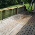 Below: Pressure Washing House & Deck in Poseyville, IN