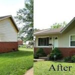 Before & After Exterior House Painting in Evansville, IN