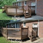 Before & After Deck Staining in Princeton, IN